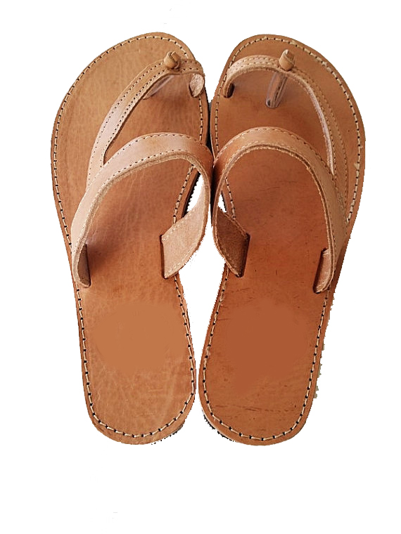 bfdb61378a25e Women Natural Handmade Leather Sandals
